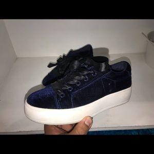 Steve Madden Bertie V dark blue platform shoes